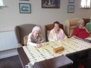 Elderly Playing Games